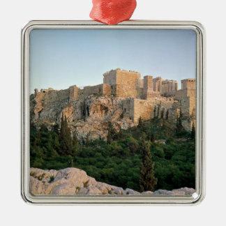 Vista panorámica de la acrópolis ornamentos de reyes