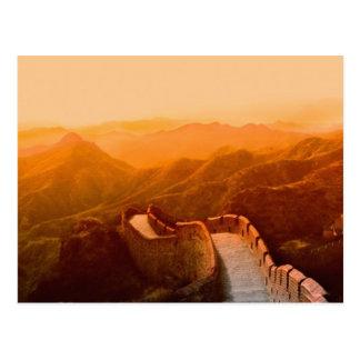 Vista panorámica de la Gran Muralla, China Postal