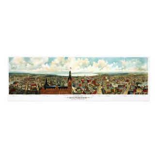 Vista panorámica de Milwaukee Wisconsin 1898 Fotografía
