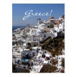 Vista panorámica de Oia, Grecia Postal