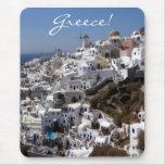 Vista panorámica de Oia, Grecia Alfombrilla De Ratón