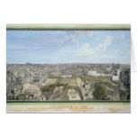 Vista panorámica de París hacia el norte, 1786 Felicitación
