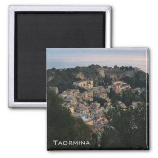 Vista panorámica de Taormina Imán Cuadrado