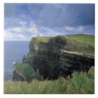 vista panorámica de un acantilado por la playa azulejo