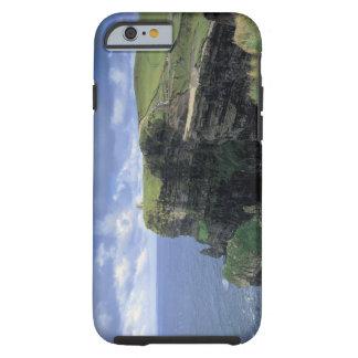 vista panorámica de un acantilado por la playa funda para iPhone 6 tough