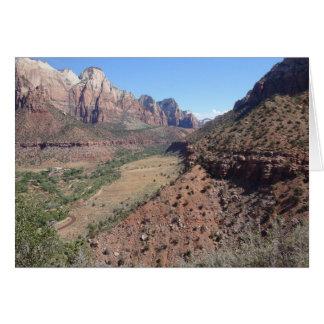 Vista panorámica del barranco de Zion del vigilant Tarjeta De Felicitación