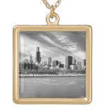 Vista panorámica del horizonte de Chicago en invie Joyerias