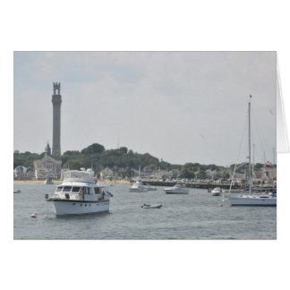 Vista panorámica del puerto de Provincetown Tarjeta De Felicitación