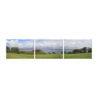 Vista panorámica del sonido de Plymouth Impresiones En Lona