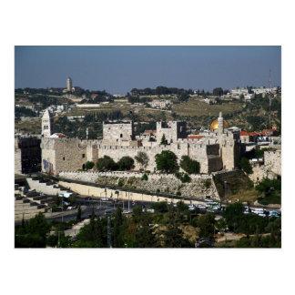 Vista para a Torre de Davi e o Domo da Rocha Postcard