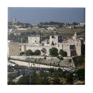 Vista para a Torre de Davi e o Domo da Rocha Ceramic Tiles