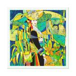 Vista para arriba el arte abstracto oriental de la impresión en lona