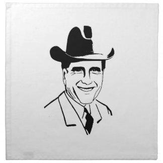 Vista para arriba Romney Cowboy.png Servilletas