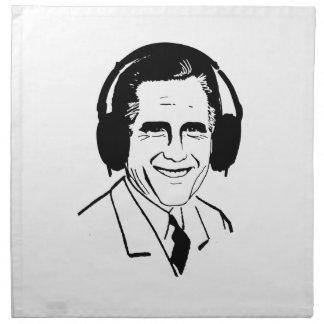 Vista para arriba Romney Headphones.png Servilletas Imprimidas
