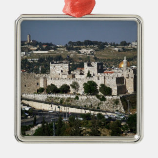 Vista para un Torre de Davi e o Domo DA Rocha Ornamento Para Reyes Magos