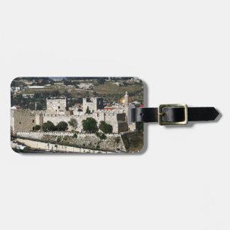 Vista para un Torre de Davi e o Domo DA Rocha Etiqueta Para Maleta
