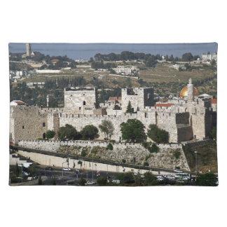 Vista para un Torre de Davi e o Domo DA Rocha Mantel