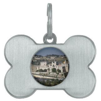Vista para un Torre de Davi e o Domo DA Rocha Placas De Nombre De Mascota