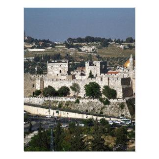 Vista para un Torre de Davi e o Domo DA Rocha Membretes Personalizados