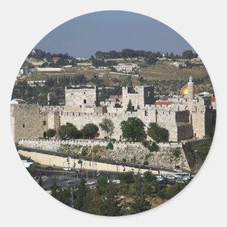 Vista para un Torre de Davi e o Domo DA Rocha Pegatina