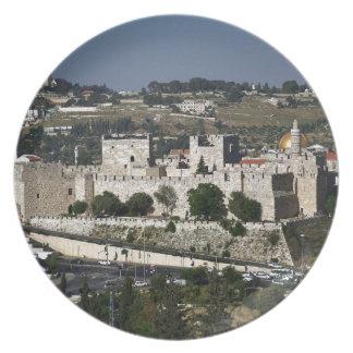 Vista para un Torre de Davi e o Domo DA Rocha Plato De Cena