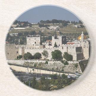 Vista para un Torre de Davi e o Domo DA Rocha Posavasos Personalizados
