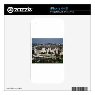 Vista para un Torre de Davi e o Domo DA Rocha Calcomanía Para iPhone 4S