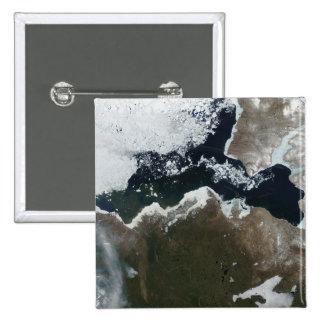 Vista por satélite de Canadá del noroeste Pin Cuadrado