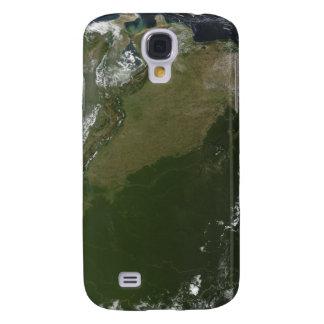 Vista por satélite de Columbia del este Funda Para Samsung Galaxy S4
