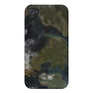 Vista por satélite de Europa del Norte iPhone 4 Carcasas