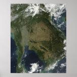 Vista por satélite de Indochina Poster