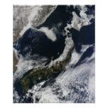 Vista por satélite de Japón Impresiones