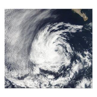 Vista por satélite de la depresión tropical Blas Fotografía