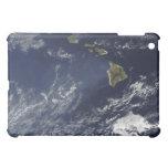 Vista por satélite de la niebla volcánica