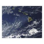 Vista por satélite de la niebla volcánica cojinete