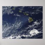 Vista por satélite de la niebla volcánica impresiones