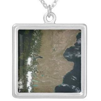 Vista por satélite de la región de la Patagonia Colgante Cuadrado