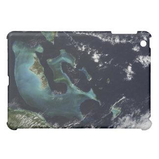 Vista por satélite de las islas de Bahama