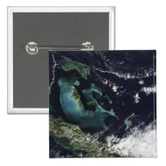 Vista por satélite de las islas de Bahama Pin Cuadrado