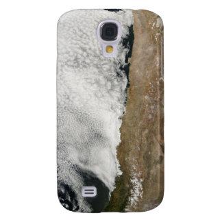 Vista por satélite de las montañas de los Andes Funda Para Samsung Galaxy S4
