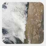 Vista por satélite de las montañas de los Andes Colcomania Cuadrada