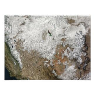 Vista por satélite de los Estados Unidos Foto
