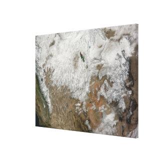 Vista por satélite de los Estados Unidos occidenta Impresiones De Lienzo