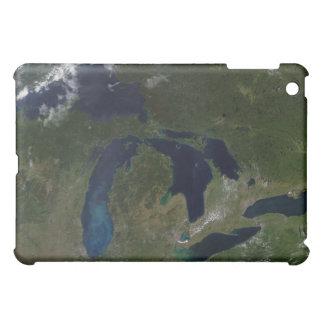 Vista por satélite de los Great Lakes