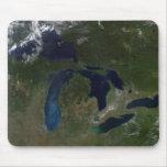 Vista por satélite de los Great Lakes Alfombrilla De Ratón