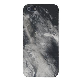 Vista por satélite de un penacho 2 de la ceniza iPhone 5 funda