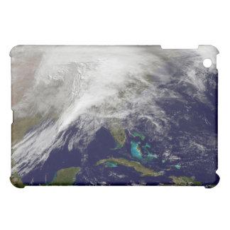 Vista por satélite de una tormenta masiva del
