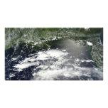 Vista por satélite del aceite que se escapa 2 fotografías