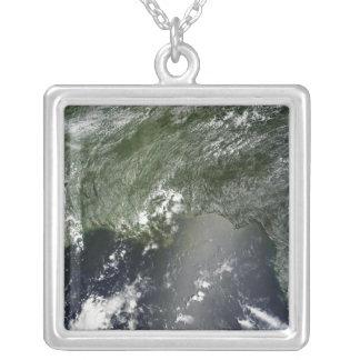 Vista por satélite del Golfo de México 2 Colgante Cuadrado