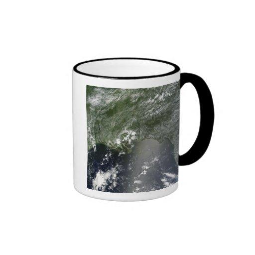 Vista por satélite del Golfo de México 2 Taza De Café